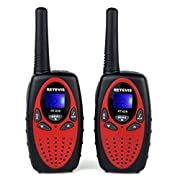 Amazon Lightning Deal 54% claimed: Retevis RT628 Kids Walkie Talkies 22 Channel FRS/GMRS UHF 462.550- 467.7125MHz Portable 2 Way Radio Toy for Children(Red,2 Pack)