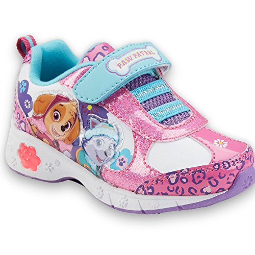 paw patrol light up pink shoes