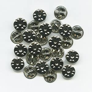 25 neue silberne Verschlüsse Butterfly Clips für Badge Pin Pins Anstecker