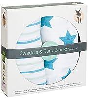 Lässig 2er Set Swaddle & Burp Blanket Puckdecke Spuckdecke 100% Baumwolle...