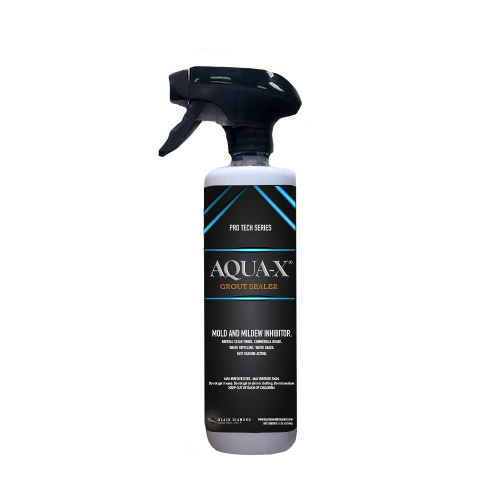 16 oz AQUA-X Grout Sealer PRO TECH Series, Clear Grout Sealer – Commercial Grade, Mold and Mildew Inhibitor