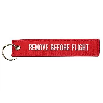 Remove Before Flight Bordado Llavero Rojo Etiqueta del ...
