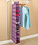 Zigzag Hanging Shoe Storage (Purple/Pink)