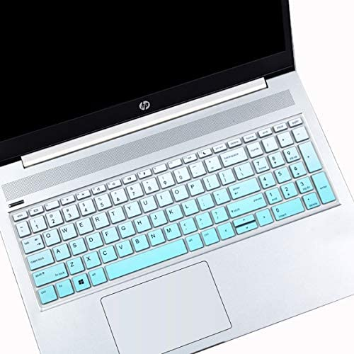 MUBUY Keyboard Cover Fit for 15.6 HP ProBook 450(G5/G6) 455(G5/G6) 650(G4)  17.3 HP ProBook 470 G5 Laptop Keyboard Protector Skin-Black-MintGreen