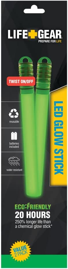 Life Gear LED Reusable Glow Stick with Assorted Colors