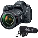 Canon EOS 6D Mark II DSLR Camera with EF 24-105mm f/4L IS II USM plus Rode VideoMic Pro