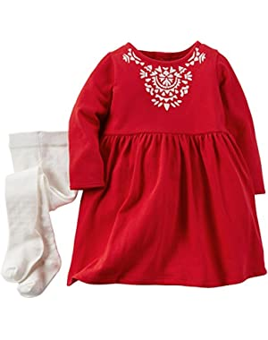 Carters Baby Clothing Outfit Girls 2-Piece Holiday Dress Set
