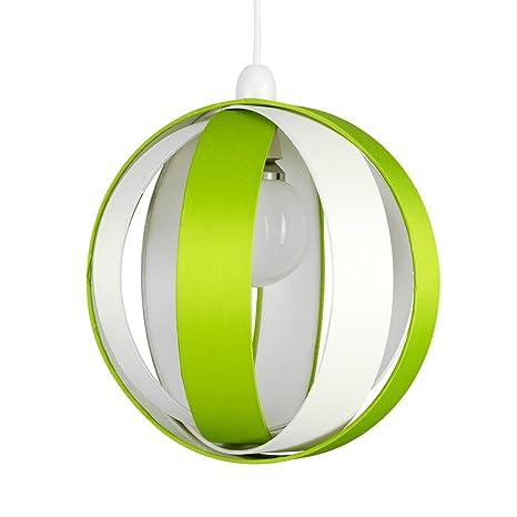 MiniSun - Moderna y divertida pantalla para lámpara de techo Cocoon – verde, redonda en forma de globo