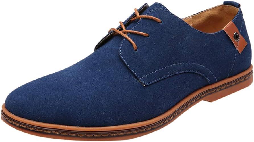 une autre chance dernière mode meilleur grossiste Leey Chaussures de Ville Homme Cuir Nubuck Oxfords à Lacets Derbies Lace Up  Homme Daim Richelieus Hommes Chaussures en Cuir