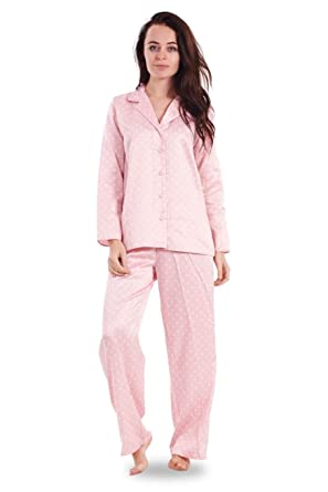 Ladies Printed Satin Pyjamas Floral Butterfly Black Womens Pink Nightwear  PJ s  Amazon.co.uk  Clothing f1b9b87b7