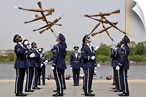 United States Air Force Honor Guard - Canvas on Demand Stocktrek Images Wall Peel Wall Art Print entitled The United States Air Force Honor Guard Drill Team 48