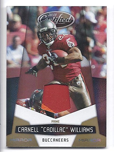 CARNELL CADILLAC WILLIAMS 2010 Panini Certified #140 Mirror Gold Materials Parallel Game-Worn JERSEY PRIME PATCH Card #13 of only 50 Made! Tampa Bay Buccaneers Football ()