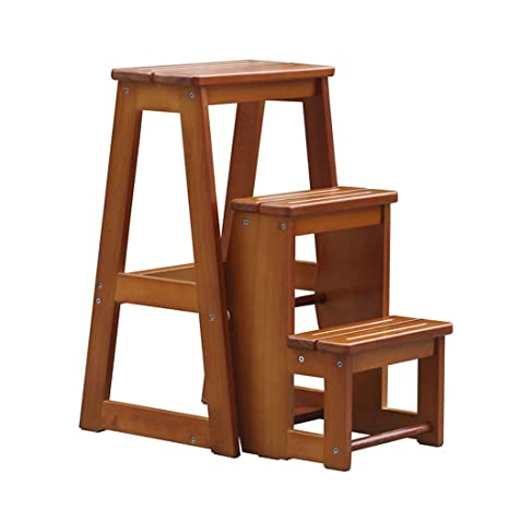 Astounding Amazon Com Wood Step Stool Folding 3 Step Small For Adult Gmtry Best Dining Table And Chair Ideas Images Gmtryco