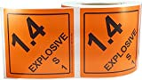 Hazard Class 1 D.O.T. Explosives 1.4S Hazmat Labels
