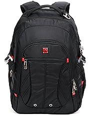 "SWISSWIN Swiss Backpack/Travel Backpack/School Backpack/Daily Backpack SW8110I Black 15.6"" Laptop"