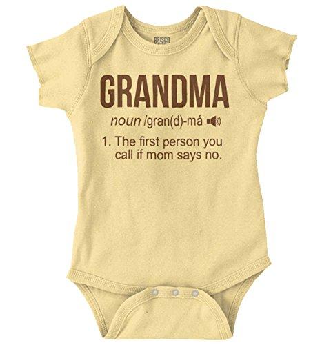 Brisco Brands Grandma Definition Funny Meaning Baby Gift Romper Bodysuit