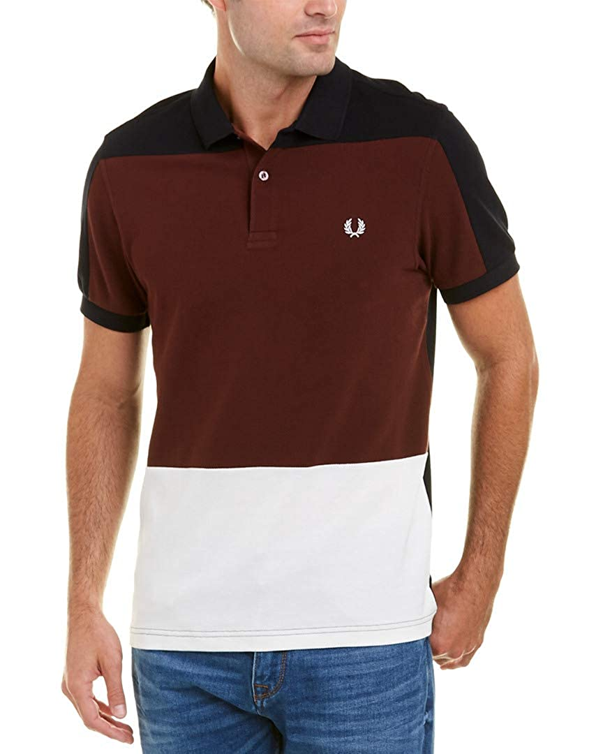 847c0e480 Fred Perry Men s Panelled Pique Shirt  Amazon.co.uk  Clothing