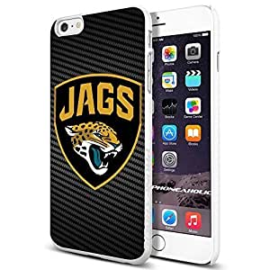 Jacksonville Jaguars , , Cool iPhone 6 Plus (6+ , 5.5 Inch) Smartphone Case Cover Collector iphone TPU Rubber Case White [By PhoneAholic] hjbrhga1544