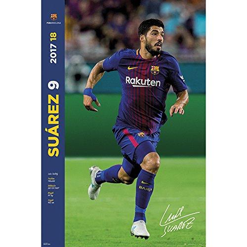Grupo Erik editores gpe5222–Poster 2017/2018with Design FC Barcelona Suarez, 61x 91.5cm by Grupo Erik Editores (Image #1)