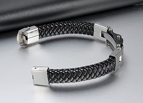 YOIOY Fashion Braided PU Leather Bracelets Elegant for Men Bangle Bracelets