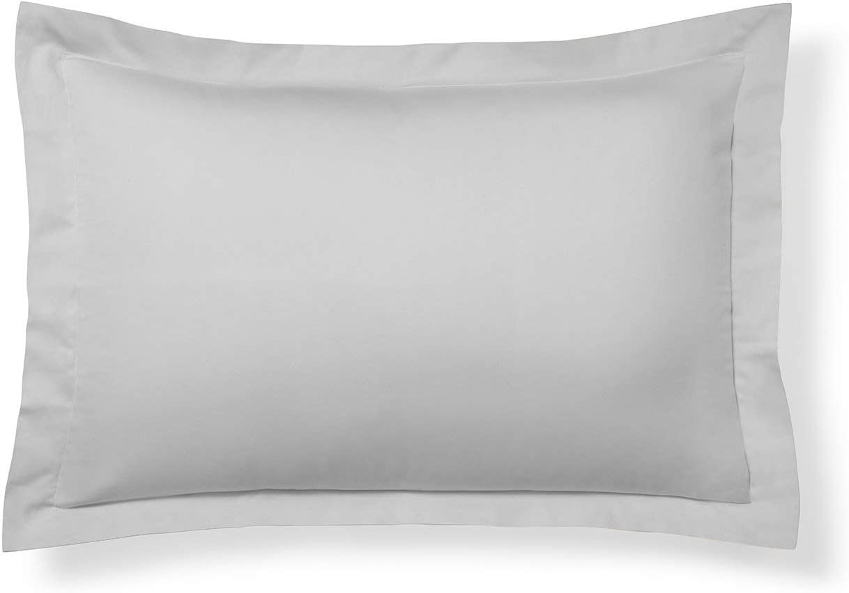 Texas Linen Factory Set of 2 Pillow Shams 600 Thread Count 100% Extra Long Staple Egyptian Cotton Cushion Cover Decorative Pillow Cover (King 20X40, Silver Grey)