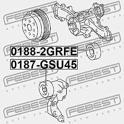 0187 Gsu45 Febest Pulley Tensioner Kit Amazon Com Au Automotive