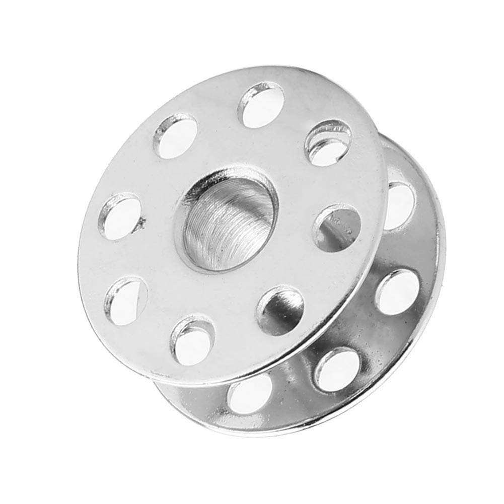 Metal Sewing Bobbins for Universal Industrial Sewing Machines 100pcs 270010 with Holes//