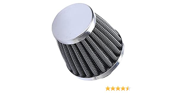 HOUTBY 60mm Universal Car Motorcycle Cone Cold Clean Air Intake Filter Turbo Vent
