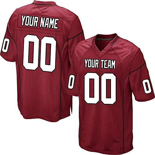 YNMYS Custom Football Team Designated Player Game Jersey #3-#18 Men 4XL Red