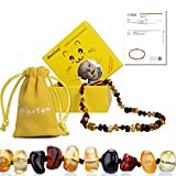 Minetom Baltic Amber Teething Necklace for Baby,Anti Inflammatory, Drooling and Natural Teething Pain