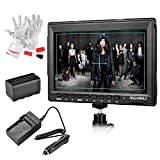 Feelworld FW759 7 inch Ultra HD 1280x800 IPS Screen Camera Field Monitor with NP-F970 Rechargeable Li-ion Battery and Charger