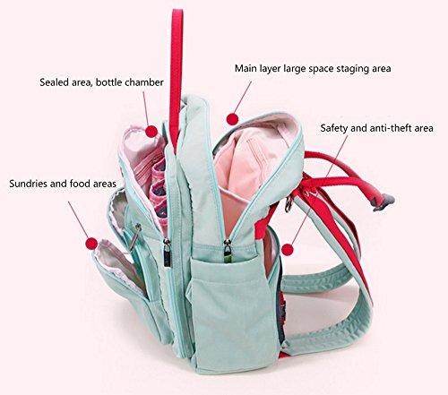Pañal Cambio de Mochila Bolsa de Múltiples Funciones a Prueba de Agua Del Pañal Bebé Cuidado de Alta Capacidad Del Viaje Mamá y Bolso amarillo