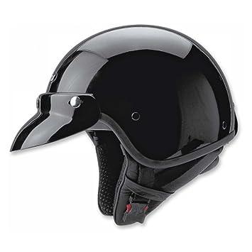 Helme & Protektoren Held Helm Jethelm Police schwarz Fiberglas Helmet Biker Jet-Helm black Radsport