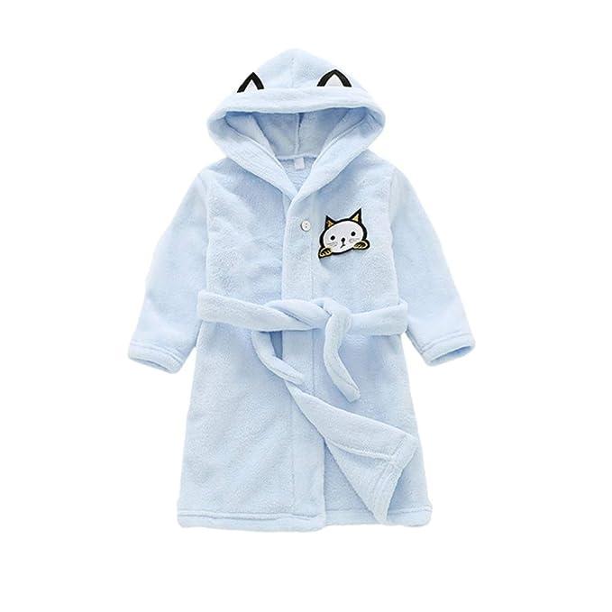 Amazon.com: BAOBAOLAI - Albornoz con capucha para niños y ...
