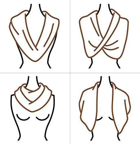 9c9903962ff9 Fête des Mères doux rond Femme Echarpe Foulard cache-col a la mode couleur  pure  Amazon.fr  Vêtements et accessoires