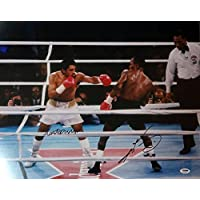 $89 » SUGAR RAY LEONARD & ROBERTO DURAN AUTOGRAPHED 16X20 PHOTO PSA/DNA STOCK #101888
