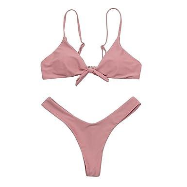 f4a110870d Moonuy,Frauen-Bikini-Set, Mädchen-Bogen-Verband Padded Lässige Beachwear
