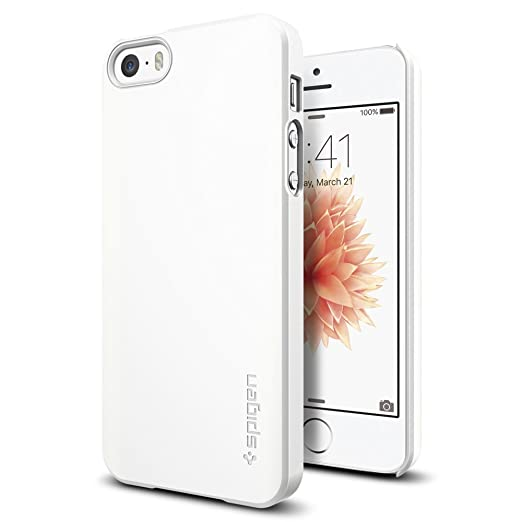 114 opinioni per Cover iPhone 5, Spigen Cover iPhone 5S / SE [Rivestimento Soft-Feel] Thin Fit