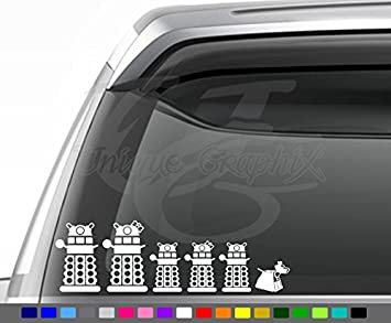 Doctorr Who Inspired Dalek Family Decals Vinyl Decal Sticker Set of 6