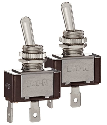 Cable Toggle - Eaton XTD1A1A2 (Pack of 2) Toggle Switch, Screw Termination, On-Off Action, SPST Contacts
