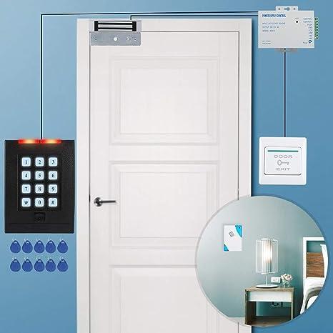 Kit de Sistema de Control de Acceso para Puertas, Metal 180KG Force Kit de Fuente de alimentación de Bloqueo magnético eléctrico: Amazon.es: Bricolaje y herramientas
