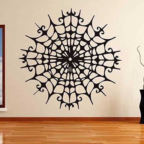 Dalxsh Spider Web Decoration Wall Sticker Bedroom Art Halloween Decoration Waterproof Vinyl Applique Living Room Home Sticker 56X56Cm (56 Spider Halloween)