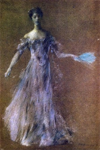 Thomas Wilmer Dewing Lady in Lavender Dress - 18.05