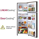 LG 335 L 3 Star Inverter Frost-Free Double Door Refrigerator (GL-T372JRS3, Russet Sheen)