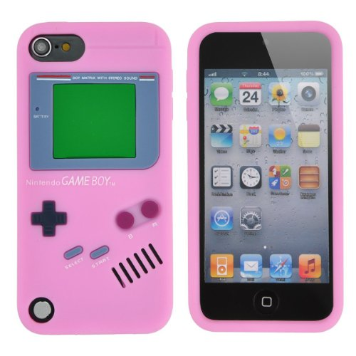 EEA 3D Silicone Rubber Retro Gameboy Case for Apple iPod Touch 5 5th Generation (Light Pink) (5th Ipod Generation Case Boy Game)