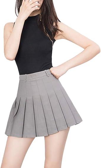 Falda Plisadas de Mujer, Alta Cintura, Uniformes Estudiantiles ...