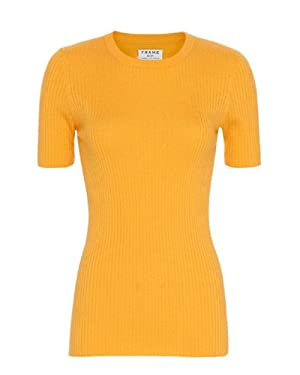 Frame Denim Yellow Ribbed Sweater