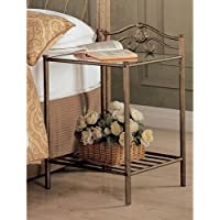Coaster Home Furnishings 300172 Night Stand in Antique Gold Finish Metal
