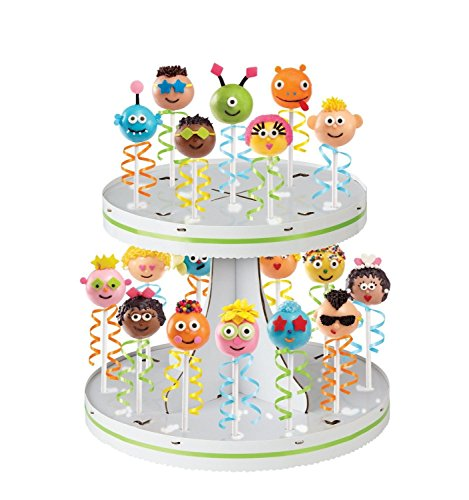 Wilton Pops 2-tier Display Stand Cake Brownie 28 Pops Lollipop Sucker (Brownie Lollipops)