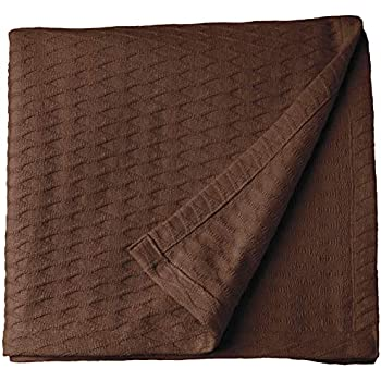 Green, Full//Queen DELANNA Waffle Weave Brushed All Season Blanket Throw 100/% Soft Cotton